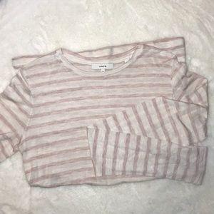 Vince pink stripe long sleeve tshirt medium